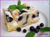 Pruhovaný borůvkový koláč recept