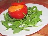 """""""Nízkokalorická svačinka"""": Plněné rajče s pečenou paprikou recept ..."""