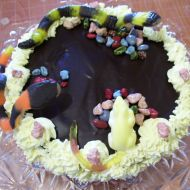 Mandlový dort s banánovým krémem recept
