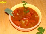 Fazolovo zeleninová polévka s klobásou recept