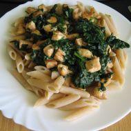 Lehké těstoviny se špenátem recept