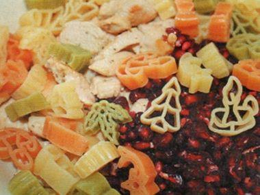 Vánoční salát s granátovým jablkem