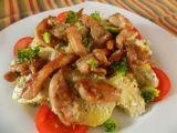 Bramborový salát s pestem a kuřecím masem recept