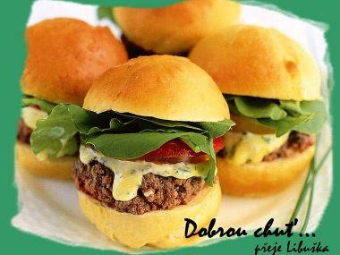 Minihamburgery na oslavy...