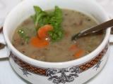 Čočková polévka s houbami recept