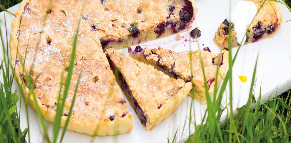 Borůvkovo-mandlový koláč