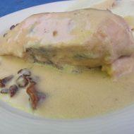 Kuře na houbách se smetanovou omáčkou recept