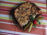 Šunkofleky s houbami a zeleninou recept