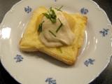 Sýrové toasty s broskvemi recept