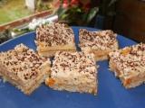 Kokosové řezy s meruňkovým krémem recept