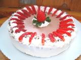 Jahodový tvarohový dortík recept