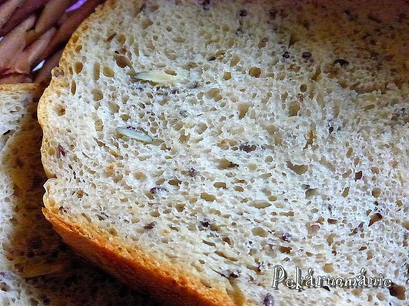 Pšenično-žitný chleba se směsí semínek recept