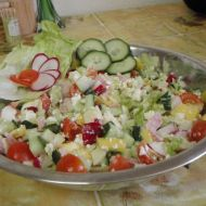 Lehký salát s mangem recept