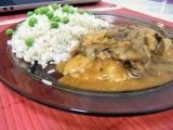 Sojové maso na houbách s rýží recept