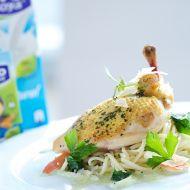 Kuře s těstovinami a špenátem recept