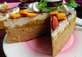 Svěží dort s jablečno  nektarinkovou směsí recept