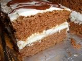 Kakaový řez s kávovým krémem a piškotama recept
