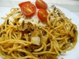 Pikantní hovězí kousíčky se špagetami recept