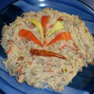 Pikantní rýžové nudle s kuřecím recept