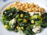 Bylinkovo-česnekové kuřecí kousky se špenátem a cizrnou recept ...
