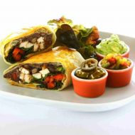 Kuřecí burrito se špenátem recept