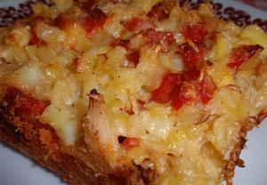 Brambory s kapustou a sýrem  zapečené