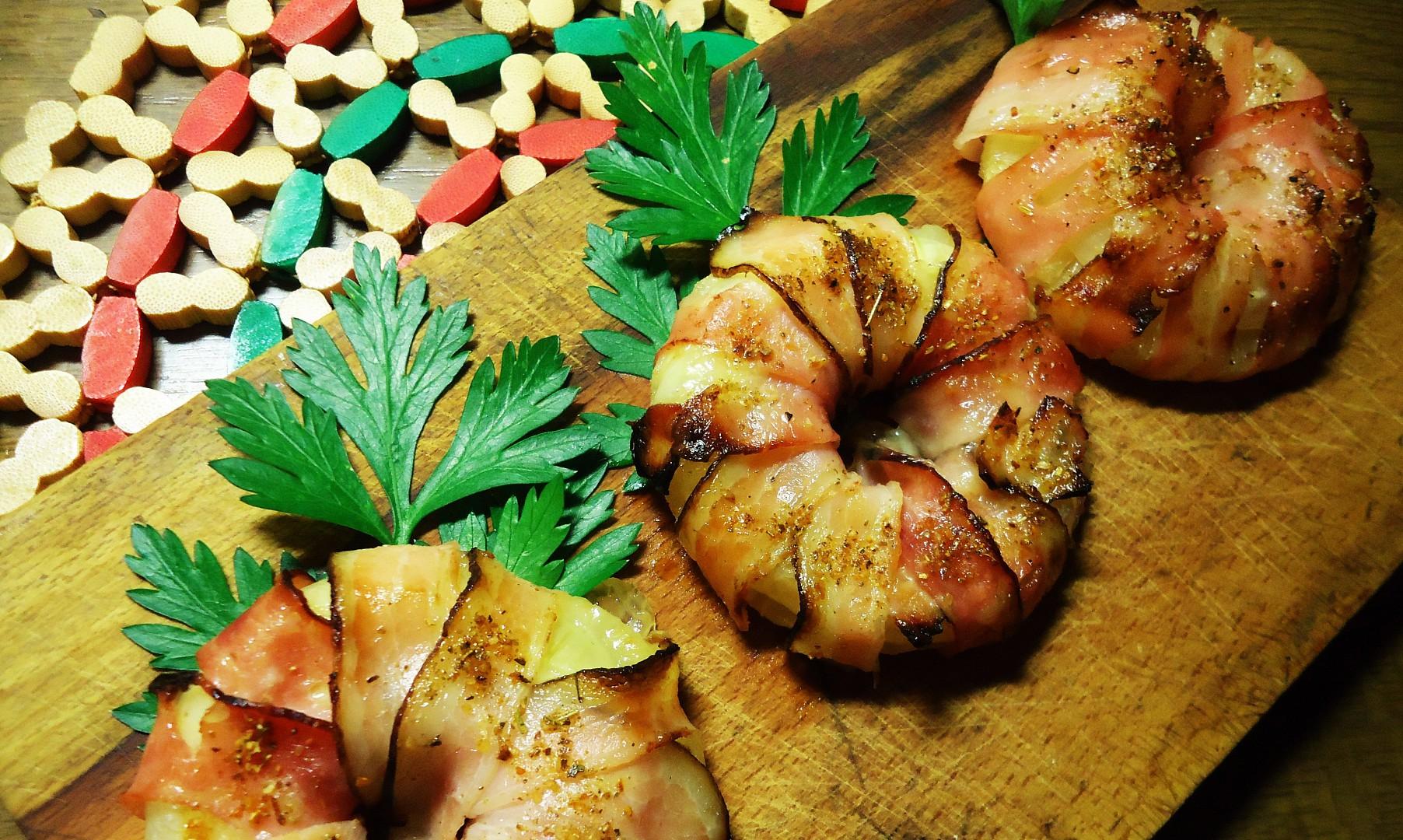 Slanino-ananasová grilovaná kolečka recept