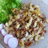 Zapečené těstoviny s vařeným kuřetem recept