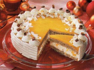 Mangový dort s kokosovou šlehačkou