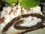 Café roláda s jablečnou šlehačkovou pěnou recept