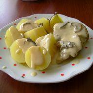 Pečené vepřové na houbách recept