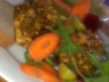 Barevné, křehké tofu s paprikovou pastou a zeleninou recept ...