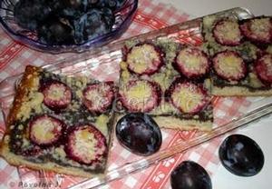 Nekynutý koláč s různým ovocem