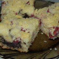 Makovo-jahodový koláč recept