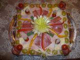 Slaný dort  salámový recept
