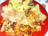 Jehněčí vnitřnosti na zelenině recept
