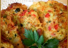 Cuketovo  zeleninové placičky se škvarkama a sýrem recept ...