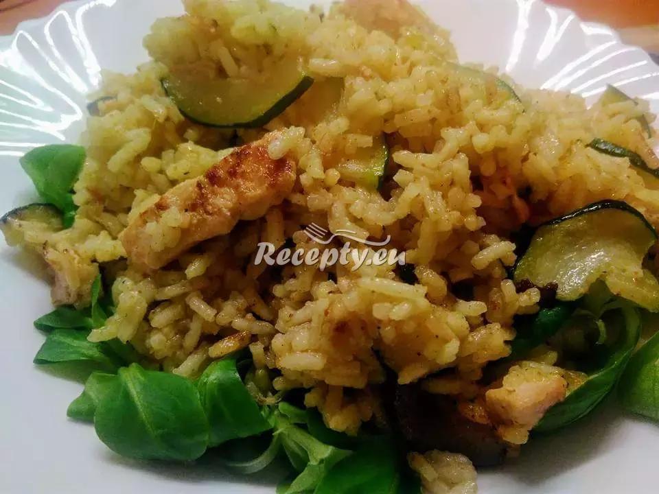 Kari rizoto s kuřecím masem recept  rýžové pokrmy