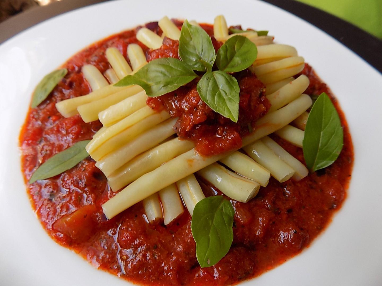 Fazolky v rajčatové omáčce recept