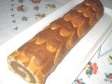 Dvoubarevná piškotová roláda recept