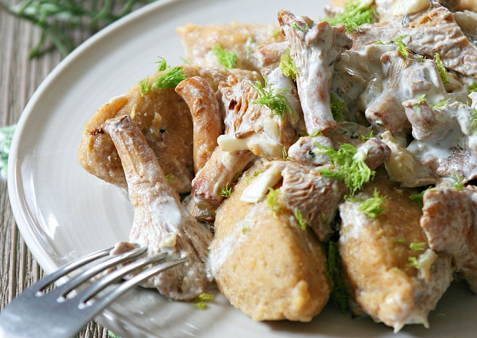 Batátové noky s liškami recept