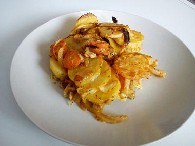 Zapečené brambory s mrkví