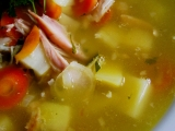 Kuřecí uzená polévka s bramborem recept