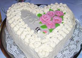 Svatební dort srdce recept