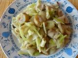 Houbovo zelné těstoviny recept