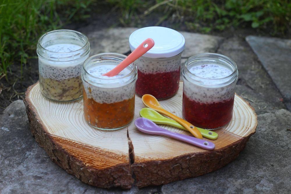 Chia pohárky s ovocem recept