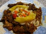 Škvarkový guláš s houbami recept