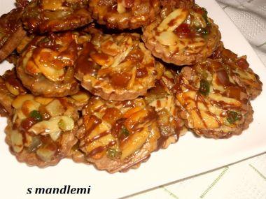 Kolečka s arašídami nebo mandlemi