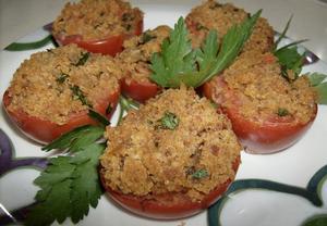 Plněná rajčata se strouhankou