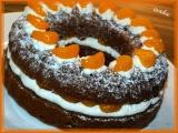 Kakaový věnec se šlehačkou a mandarinkami recept